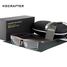 Coffee Men's Rimless Memory Titanium Glasses  Optical Eyeglasses SpectaclesFrame