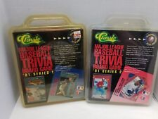 CLASSIC Major League Baseball Trivia Board Game 1991 Limited Edition series 1,2