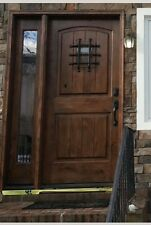 TUSCANY 2 PANEL ARCHED TOP ENTRY DOOR WITH SIDE LITE