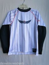 TROY LEE DESIGNS TLD motocross MOTO GIRLS jersey white  LARGE (womens ?)