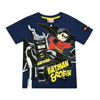 Lego - Batman & Robin - Official Licensed - Boys - T-shirt - Navy