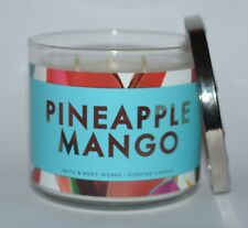 BATH BODY WORKS PINEAPPLE MANGO SCENTED CANDLE 3 WICK 14.5OZ LARGE ESSENTIAL OIL