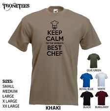 'Keep Calm I'm The World's Best Chef' (logo) Funny Cook Foodie Hat  Sous Tshirt