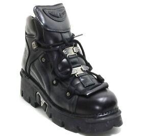 95 Stiefel Plateau Gothic Leder Boots New Rock 765 Planet Metall Original 44