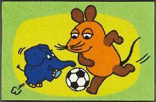Fußmatte waschbar Kampf um den Ball 50x75cm Die Maus und Elefant wash+dry Matte