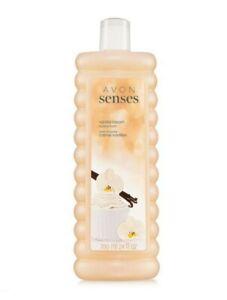Avon Lot of 3 Senses Vanilla Cream Bubble Bath 24oz each