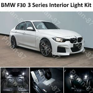 DELUXE for BMW 3 SERIES F30 INTERIOR PURE WHITE FULL UPGRADE LED LIGHT BULBS KIT