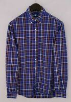 Men Ralph Lauren Casual Shirt Check Two-Ply Cotton M MIA808