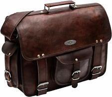 """Men's Real Leather Briefcase Large Shoulder Bag Messenger Bag Satchel - 18"""""""