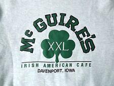 St. Patrick's Day McGuires Irish American Cafe Davenport Iowa Sweat Shirt Large