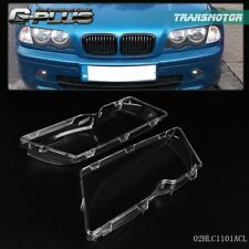 2pc Car Headlight Headlamp Lense Clear Lens Cover For 1998-2001 BMW E46 3 Series