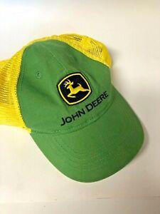 John Deere Toddler Size Adjustable Strapback Green and Yellow Trucker Hat
