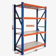 1.5M Long x 2.4M High Heavy Duty Warehouse Garage Metal Storage Shelving Racking