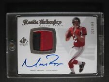 2008 UPPER DECK SP AUTHENTIC MATT RYAN ON CARD AUTO 2 COLOR JERSEY RC # 224/499