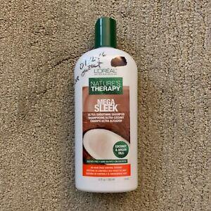 L'Oreal Nature's Therapy Mega Sleek Ultra Smoothing Shampoo 12 fl oz NEW