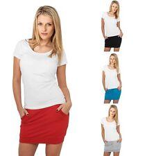 Unifarbene Miniröcke aus Baumwolle für Mini