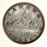 Raw 1935 Canada $1 Uncertified Ungraded Canadian Silver Dollar Coin