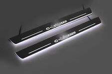 Led Stainless Steel Door Sill Scuff Plate Guards 2pc For Citroen C-Crosser 2007-