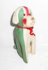 Alter Plüsch Hund dog Vintage Glasaugen Holzwolle 20 cm Bulldogge 1930er !