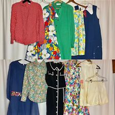 New listing Vintage Lot 10 Midcentury 60s 70s Dresses Floral Cotton Psychedelic Shirtdress