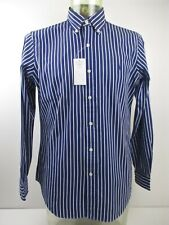Authenticity Guaranteed Ralph Lauren Long Sleeve Blue Striped Shirt Size M, BNWT