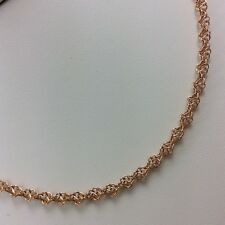 "17"" 14K ROSE PINK GOLD LADIES CHAIN NECKLACE"