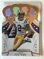 Justin Jefferson 2020 Chronicles Draft Picks Crown Royale Red Parallel RC Rookie