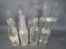 Lot anciennes bouteilles et flacons de pharmacie vintage pour déco brocante