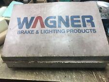 Vintage Wagner Brakes And Lighting Metal Automotive Shop  Display Case
