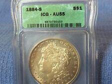 1884 S  Morgan Silver Dollar AU 55