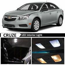 2011-2014 Chevy Cruze White Interior + License Plate LED Lights Package + TOOL