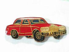 Vintage Red Rolls Royce Auto Enamel Pin , (**)