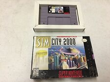SimCity 2000 SIMCITY GAME WITH BOX SNES SUPER NINTENDO GAME NES HQ BOX #C