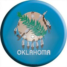 "OK Oklahoma State Flag 12"" Round Metal Signs US Patriotic Man Cave Wall Decor"