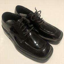After Six Formal Black High Gloss Patent Vinyl Uniform Formal Shoes Mens Sz 6.5