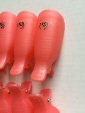 10pcs Pink Plastic Nail Art Soak Off Clip Cap UV Gel Polish Remover WrapTools