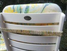 4 Gartenstühle Holz weiß mit Auflagen