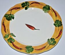Gien Poivre Et Sel Yellow Salad Plate France Tabasco Pepper