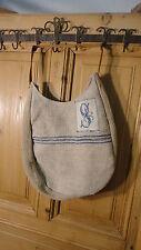 Antique European Grain Sack,Tote Bag, Book Bag,Ipad Bag,Purse.#6513