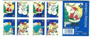 US SCOTT 3956b BOOKLET OF 20 HOLIDAY COOKIES STAMPS 37 CENT FACE MNH