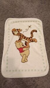 Winnie The Pooh Holding Tigger Up Plush Baby Luxe Throw Blanket Cream Ivory