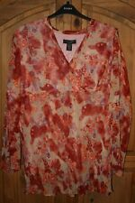 LADIES PINK SILK BLOUSE FROM SILKLAND SIZE 3X - NEW WITH TAGS
