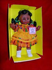 "9 1/2 "" Toddler Doll - Olmec - African American Girl 1989 Gigo Toys"