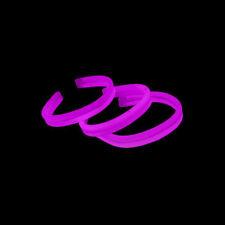 """80 8"""" Glow in the Dark TWISTER Light Bracelets PINK"""