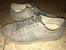 ECCO Danish Design Light Gray Men Fashion Sneakers Oxford Suede Shoes Size 41 8