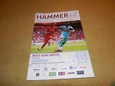 West Ham Utd v Liverpool- No 18 & Last season at Boleyn FA Cup 4th round 2015/16