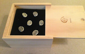 CARLY'S WISH METAL PEWTER LOOK PUSH PINS - DREAM (6 pins in Wood Box)  (2791)