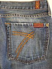 7 For All Mankind DOJO 27 x 30 Denim Jeans Boot Cut Flare 7FAM USA