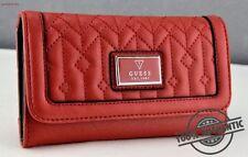 Porte-monnaie rouge en cuir synthétique pour femme