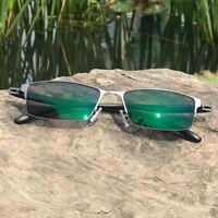 Men Half Rimless Photochromic Reading Glasses +0.0  ~+4.00 Single Vision UV400